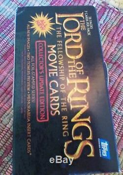 Lord of the Rings movie cards FULL BOX Store Display NOS 2002 with36 Sealed packs