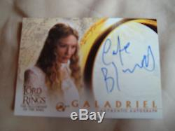 Lord of the rings Cate Blanchett Galadriel Autograph Card FOTR