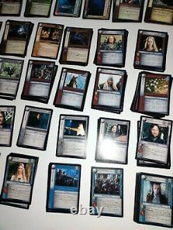 Lord of the rings trading card game Lot 800 Plus Cards EUC & 50+ SHEETS STORAGE