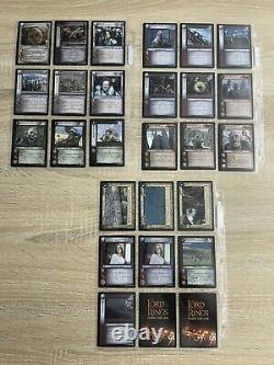 Lord of the rings trading card game lot 52 cards Battle Of Healms Deep