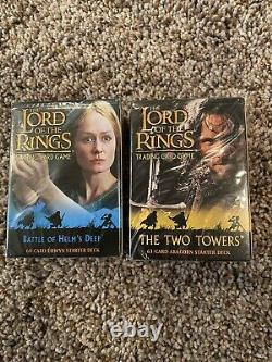 Lot Of 2 Lord Of The Rings Trading Card Game Booster Box Sets 123 Cards Total