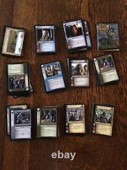 Lot Of 214 Lord Of The Rings Trading Card Game Cards & Rulebook