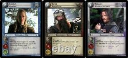 Lot Of 3 Lord Of The Rings Trading Card Game