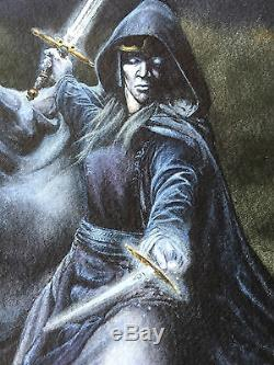 Magic the Gathering Artist, Rob Alexander, Original, LOTR The Witch King, 1997