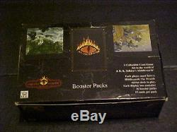 Middle Earth Limited Wizards Tournament Lot Booster Box & Deck Box with120 Rares