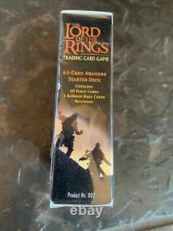 NEW LOTR Trading Card Game 74 Cards Fellowship of the Ring Aragorn Starter Set
