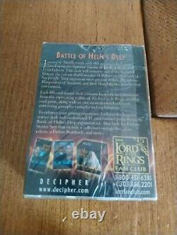 New Sealed Lord of the Rings TCG Trading Card Game Battle Helms Deep Eowyn Deck