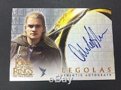 ORLANDO BLOOM AS LEGOLAS 2002 Topps Lord of The Rings TTT Auto Autograph SP