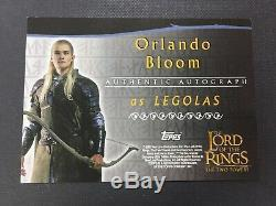 ORLANDO BLOOM AS Legolas 2002 Topps Lord of The Rings TTT Auto Autograph