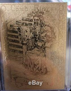 RARE 22CT GOLD LORD OF THE RINGS DANBURY MINT TRADING CARD Full Set Of 24