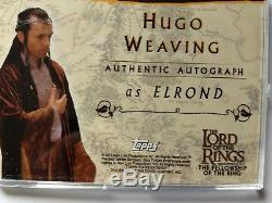 RARE Topps Lord of the Rings FOTR Hugo Weaving as Elrond Autograph Card