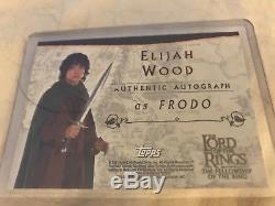 Rare! Lord Of The Rings -FoTR TOPPS Autograph Card Elijah Wood / Frodo