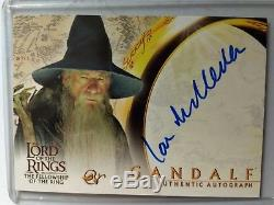Rare TOPPS Lord Of The Rings FotR Autograph Card Sir Ian McKellen As Gandalf