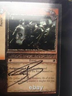 Sean Bean Signed Nlp The Lord Of The Rings Trading Card Game Framed