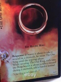 Super RARE Lord Of The Rings Trading Card Game FOIL CARD HALOGRAM THE ONE RING