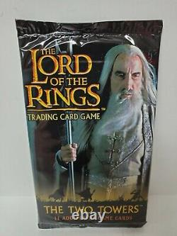 THE TWO TOWERS Booster Pack The Lord of the Rings Trading Card Game New Sealed