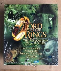 TOPPS LORD OF THE RINGS FELLOWSHIP OF THE RING RETAIL Card Box SEALED 24 Packs