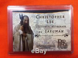TOPPS LOTR Christopher Lee Authentic Autograph Fellowship Of Ring Saruman Card