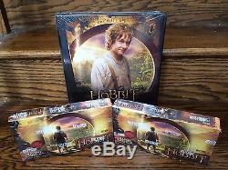 TWO 2014 Cryptozoic HOBBIT Unexpected Journey HOBBY Trading Card Boxes + Binder