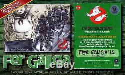 The 4 Original GHOSTBUSTERS very RARE AP Sketch Card Fer Galicia Cryptozoic 03