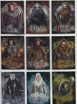 The Hobbit An Unexpected Journey Complete Character Chase Card Set CB01-CB19