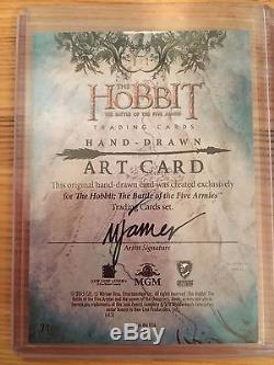 The Hobbit Battle Five Armies Sketch Card by Mike James of Thorin