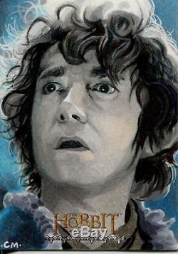 The Hobbit Desolation Of Smaug Hand Drawn Sketch Card By Chris Meeks