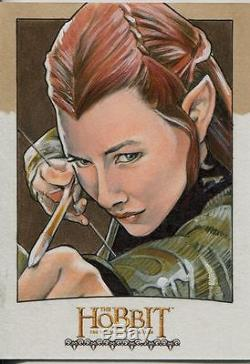The Hobbit Desolation Of Smaug Hand Drawn Sketch Card By Mike James