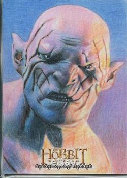 The Hobbit Desolation Of Smaug Hand Drawn Sketch Card By Richard Salvucci