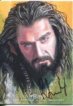The Hobbit Desolation Of Smaug Illustrated Autograph Card R. Armitage as Thorin