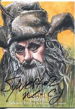 The Hobbit Desolation Of Smaug Illustrated Autograph Card S. McCoy as Radagast