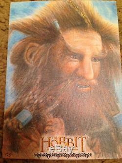 The Hobbit Desolation of Smaug Sketch Card by Richard Salvucci
