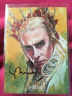 The Hobbit Desolation of Smaug Thranduil Illustrated Autograph Sketch Card