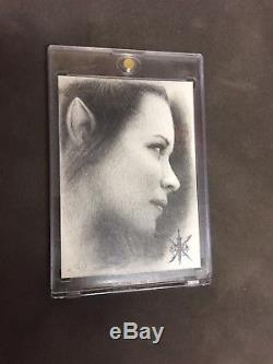 The Hobbit The Battle of the Five Armies Artwork Card 1/1 (A. Fay) Tauriel Mint
