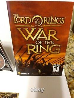 The Lord Of The Ring War Of The Ring game for PC Rated T Complete withTrading Card