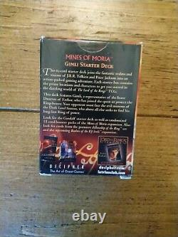 The Lord Of The Rings Trading Card Game Mines Moria Gimli Starter Deck Tolkien