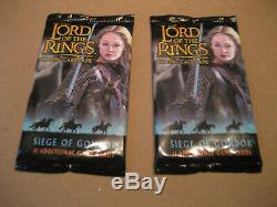 The Lord Of The Rings Trading Card Game-siege Of Gondor (sealed) 2 Packs