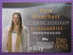 The Lord of The Rings Autographed Trading Card TTT Cate Blanchett as Galadriel
