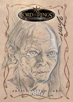 The Lord of the Rings Evolution Sketch Card Mike Lilly Gollum