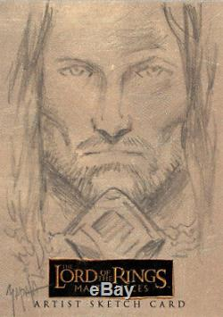 The Lord of the Rings Masterpieces Sketch Card Jeff Zapata Aragorn RARE