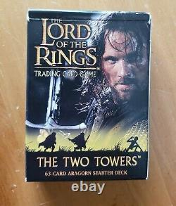 The Lord of the Rings Trading Card Game The Two Towers Aragorn Starter Deck