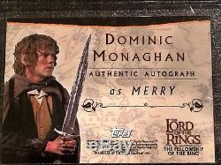 Topps 2001 LotR FotR Autograph Card Dominic Monaghan as Merry