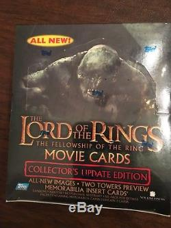 Topps LOTR Lord Of The Rings Fellowship Update Movie Box Factory Sealed