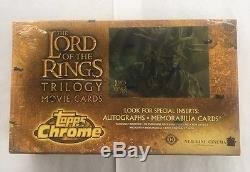 Topps LOTR Lord of the Rings Chrome Trilogy Movie Factory Sealed Box Autographs