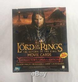 Topps LOTR Lord of the Rings Return of the King Movie Cards Update Box Auto