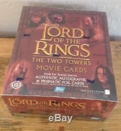 Topps LOTR Lord of the Rings- Two Towers Factory Sealed Hobby Box