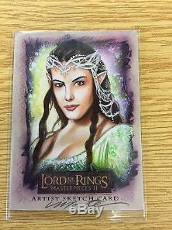 Topps LOTR Masterpieces 2 Artists Return Sketch Card Arwen by Monte Moore