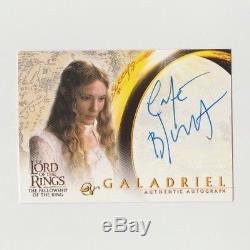 Topps Lord Of The Rings Lotr Cate Blanchett Autograph Fellowship Galadriel