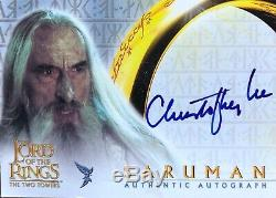 Topps Lord Of The Rings Two Towers Christopher Lee Saruman Autograph Card