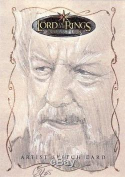 Topps Lord of the Rings Evolution Cat Staggs / Theoden Sketch Card LotR